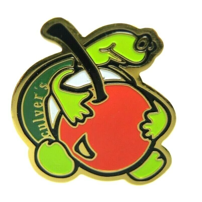 Culver's Restaurant Turtle Cherry Crew Employee Advertising Lapel Pin