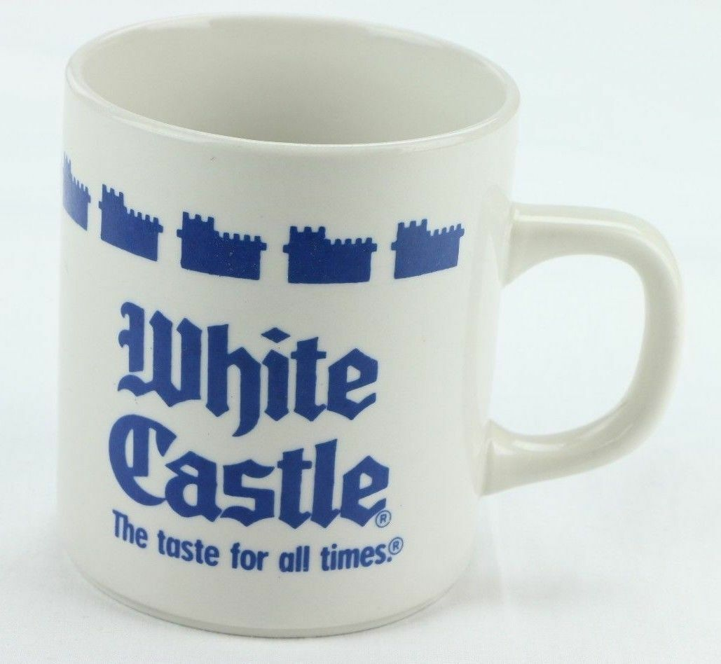 White Castle Coffee Mug Cup 1990 Restaurant Logo The Taste For All Times