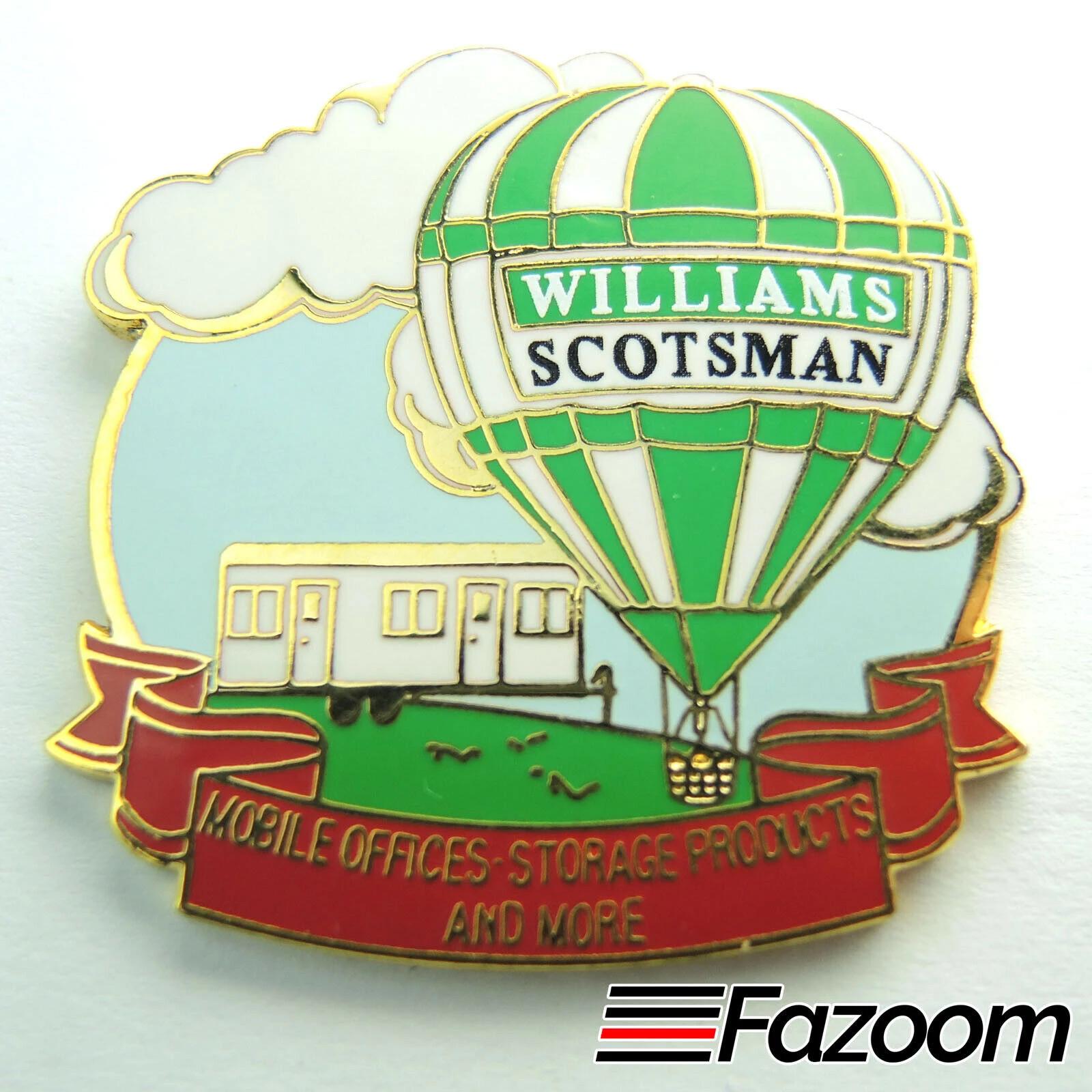 Williams Scotsman Hot Air Balloon 1-1/2 Inch Hot Air Balloon Lapel Pin
